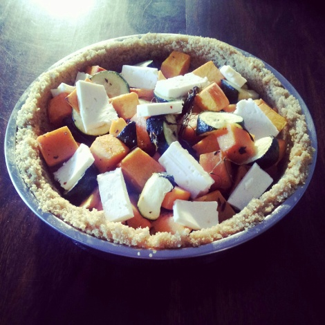 Pictured: Quinoa crust pumpkin, courgette and feta pie. Recipe courtesy of Donna Hay Fresh and Light.