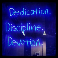 Keys to success: dedication, discipline, devotion
